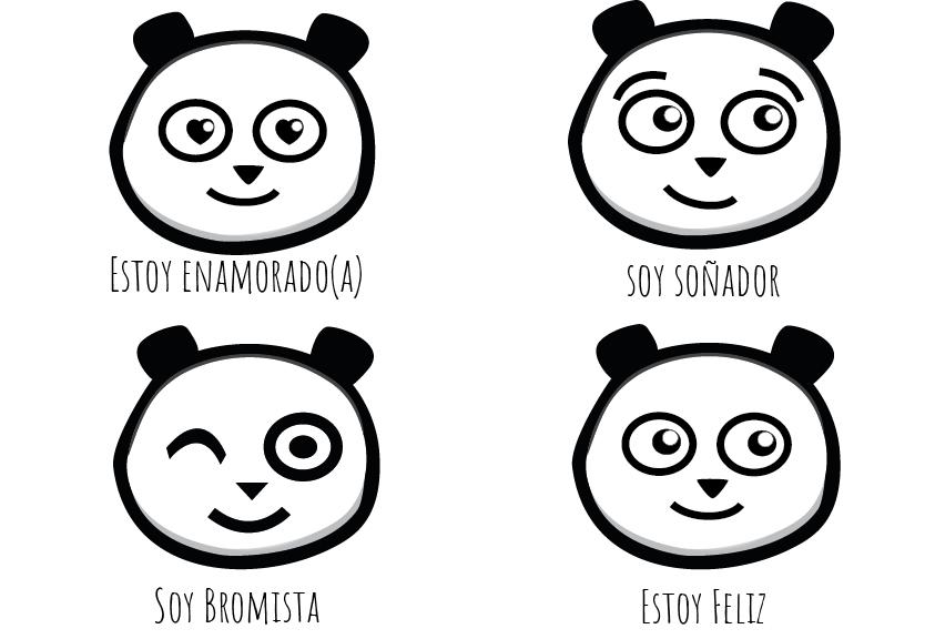 One Los Estados De ánimo Del Oso Panda Para Aprender Las Emociones